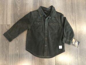 Art Class Toddler Long Sleeve Brown Corduroy Button Down Shirt Size 2T