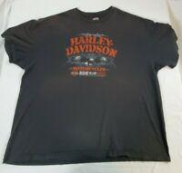 Harley Davidson Men's Short Sleeve Shirt Black Size 3XL Yankee HD Bristol, CT