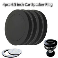 4PCS 6.5 Inch Car Universal Speaker Insulation Ring Soundproof Cotton Pad Black
