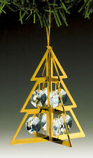"SWAROVSKI CRYSTAL ELEMENTS ""Christmas Tree"" FIGURINE - ORNAMENT 24KT GOLD PLATED"