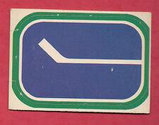 RARE 1972-73 OPC VANCOUVER CANUCKS  LOGO  INSERT CARD