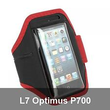 Armband Cover Gym Sport Red for LG L7 Optimus P700