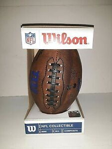 "New York Giants NFL Wilson Composite Mini Football  9"" x 5"""