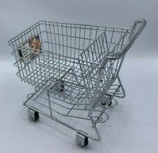 Doll Metal Shopping Cart- Rolling Wheels- Big enough for American Girl Dolls