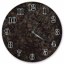 "10.5"" BLACK RUSTIC MARBLED CLOCK - Large 10.5"" Wall Clock  Home Décor Clock 3191"