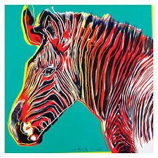 Grevy's Zebra by Andy Warhol 54cm x 54cm High Quality Art Print