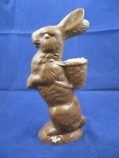 """Vintage - Ceramic - Faux Chocolate - Easter Bunny - 10"""" Tall"""