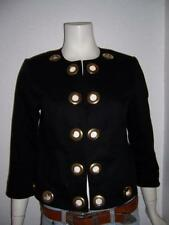 ISABEL SIZE SMALL BLACK JACKET ANIMAL PRINT LINING GOLD ACCESSORIES MADE IN USA