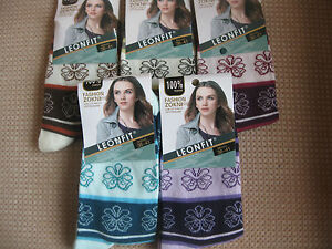Ladies/girls cotton socks,by Leonfit sizes 3-5 or 5-7,,Floral logo