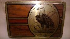 Vintage Solid Brass Belt Buckle - bird EAGLE- Nap 1984 Collectors item