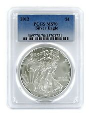 2012 1oz American Silver Eagle PCGS MS70 - Blue Label
