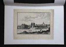 Eau-forte du 17e siècle représentant la propriété du Château Irrois en Champagne