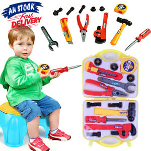 DIY Gift Box Tool Set Saw Role Play Pretend Toy Builder Kids Screwdriver Work