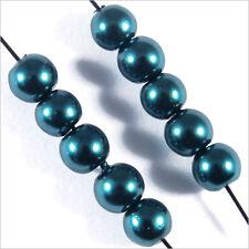 100 perles Nacrées 4mm Vert métallisé verre de Bohème