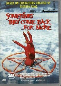 Sometimes They Come Back... for More - Stephen King New and Sealed DVD