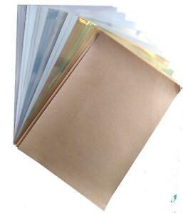 Inkjet Printable Sticker Sheets Gloss matt White Gold Silver 20 sheets Free Post