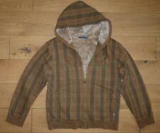 Animal Jacket Brown Checked Hoodie Size M Men's