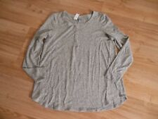 American Eagle Outfitters Grey Long Sleeve Henley Shirt Knit Top Size XL NWT
