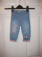 BABY GIRLS EMBROIDERED JEANS AGE 6-9 MONTHS