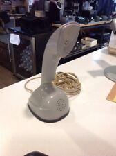 LM Ericsson Ericofon Cobra Rotary Swedish Vintage Gray Stand Phone Sweden