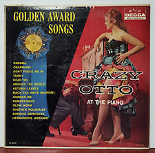 "Golden Award Songs Crazy Otto at the Piano 1960 Decca 12"" 33 RPM LP (NM)"