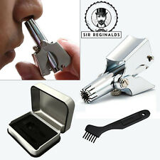 Sir Reginalds Stainless Steel Nose Trimmer Nostril & Ear Hair Pro Removal Tool