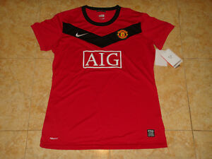 Manchester United Womens Soccer Jersey Nike Ladies Top Football Shirt Maillot L