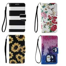 For iPhone Galaxy S4 i9500 Phone Flip Stand PU Leather Wallet Card Case Cover