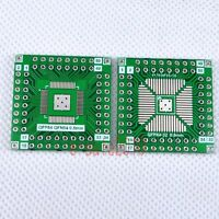 20pcs NEW QFP/QFN 64 to DIP 2.54mm Adapter PCB Board Converter Double Sides F15A