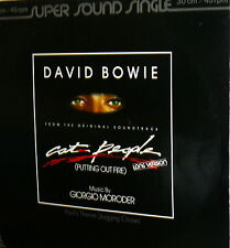 DAVID BOWIE OST  LP  SINGLE CAT PEOPLE ( GIORGIO MORODER ) LONG VERSION GERMAN
