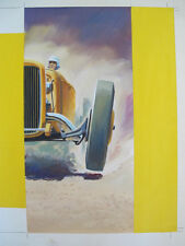 Original Cover Art Painting DRAG STRIP Charles Smith - William Campbell Gault