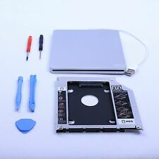 Hot Macbook SSD Kit Pro Mac 2nd hdd Module Caddy SATA + Superdrive USB Enclosure