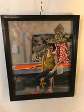 """Maggie& The Pope Painting,Oil On Canvas  21""""X25"""".See9pix4details&size.MAKE OFFER"""