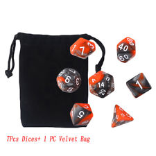 7PCS/Set Dungeons & Dragons Dice Polyhedral Game Dice Two-Colors DND RPG D4-D20