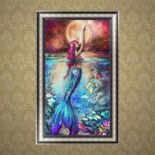 5D Diamond Embroidery Mermaid Painting Cross Stitch DIY Craft Home Office Decor