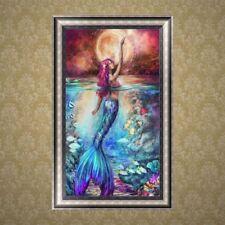 5D Diamond Embroidery Mermaid Painting Cross Stitch DIY Craft Home Office Decor
