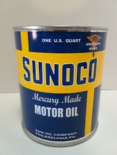 Vintage Sunoco Motor Oil Can 1 qt. -  ( Reproduction Tin Collectible )