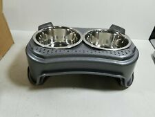 Neater Feeder Express (Medium to Large Dog, Gunmetal) - with Stainless Steel