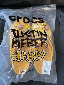 BRAND NEW Justin Bieber Drew House Crocs SZ 10M/ 12W