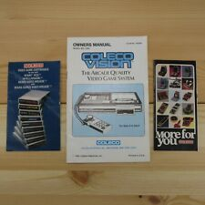 VINTAGE COLECOVISION CONSOLE INSTRUCTION MANUAL AND CATALOGS