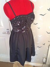 """American Eagle Outfitters sequin evening party dress, 8/10 UK,4 US, 31"""" L, vgc,"""