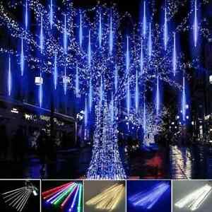 192/384 LEDs Lights Meteor Shower Rain 8X Tube New Snowfall Tree Outdoor Light