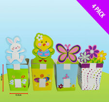 4 x Easter Favour Treat Boxes Egg Hunt Boxes to fill with mini eggs & sweets