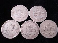 Australian 1910 1912 1913 1914 1919 Florin Sterling Silver Coin Key Dates #SM3