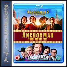 ANCHORMAN 1 & 2 - TWO FILM BOXSET  **BRAND NEW BLU-RAY***