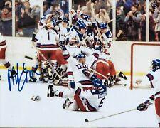 GFA 1980 Miracle on Ice Captain * MIKE ERUZIONE * Signed 8x10 Photo M6 COA