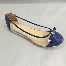 scarpe donna moccassini ballerine nuovo K/2016-135 blu numero 37 e 38 offerta