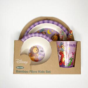 Disney Winnie the Pooh Halloween Holiday 5pc Bamboo Fibre Kids Dish Set Tigger