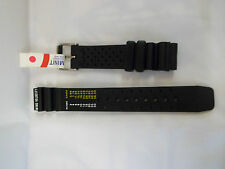 BLACK RUBBER 18MM DIVERS WATCH STRAP,STAINLESS STEEL BUCKLE