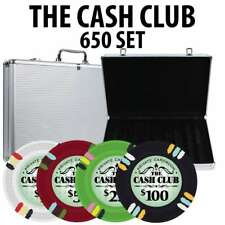Cash Club Casino Poker Chip Set 650 Poker Chips Aluminum Case